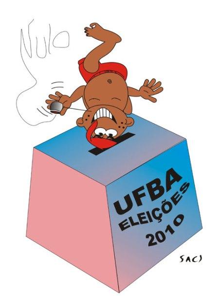 Saci e Menandro em favor de uma UFBA autônoma e democrática.
