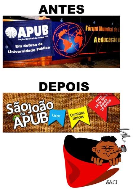 Participação da APUB no Fórum Mundial de Educação, em 2004, realizado em Porto Alegre.
