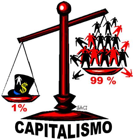 Na balança do capitalismo, segundo o Saci, 99% pesa menos do que isopor...