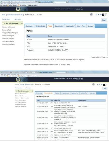 O site doTribunal Regional Federal da Primeira Região publicou o que se vê acima.