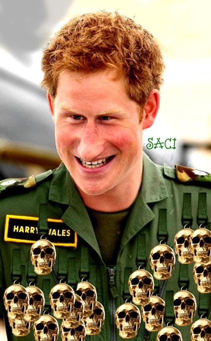 Para o Saci, a família real está muito feliz com o seu jovem matador. Deus salve a rainha!