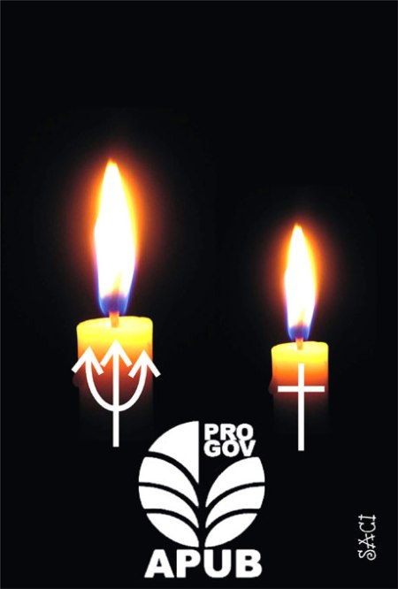 Para o Saci, há uma década que os dirigentes da Apub adquirem um par de velas para seus piedosos cultos...