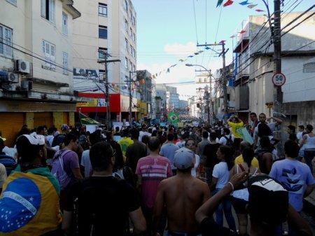 A manifestação teve início no CampoGrande e tomou parte da Av. Joana Angélica e adjacências.