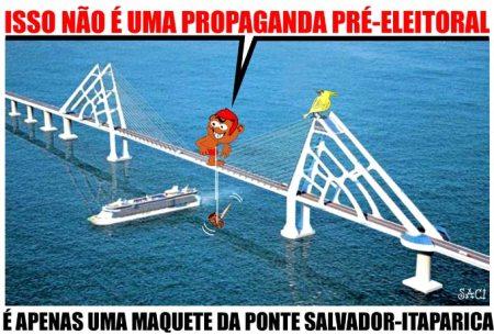 Para o Saci, há situações em que toda ponte é em vão...
