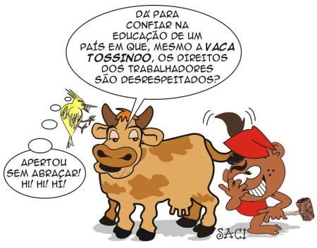 Klevim vaca tossindo