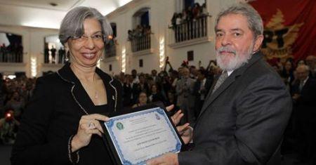 Reitora e Lula