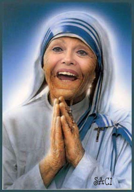 O senador Magno Malta discorda que a presidente Dilma seja comparada à madre Tereza de Calcutá...