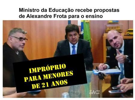 Para o Saci, o governo do presidente tampão poderá ser marcado por experiências inusitadas na área educacional...