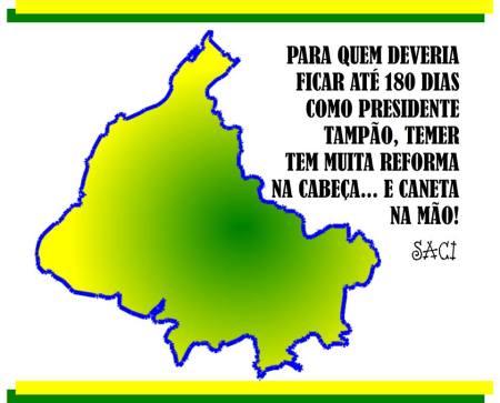 REFORMA NA CABEÇA E CANETA NA MÃO 2016